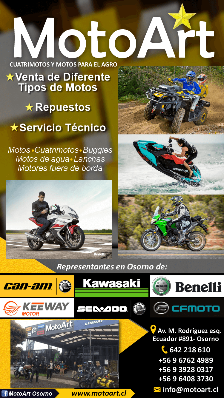 motos can am kawasaki osorno